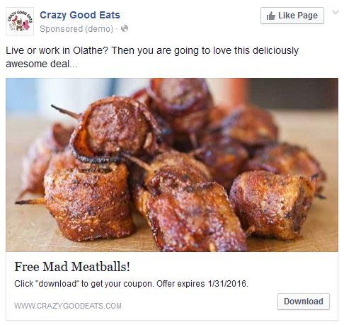 Free Meatballs - Restaurant ad