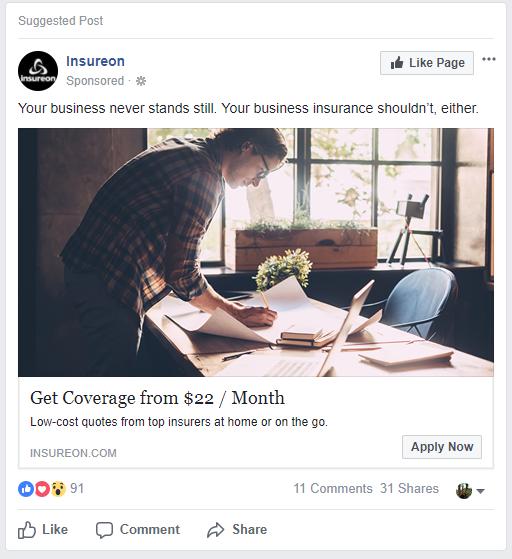 example retargeting ad
