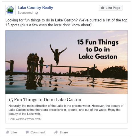 local facebook ad